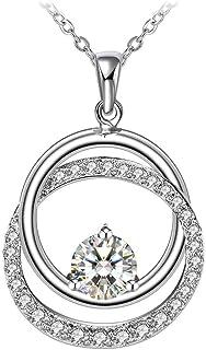 Swarovski Elements Crystal 925 Sterling Silver Pendant Necklace for Women Gift JRosee Jewelry JR3243