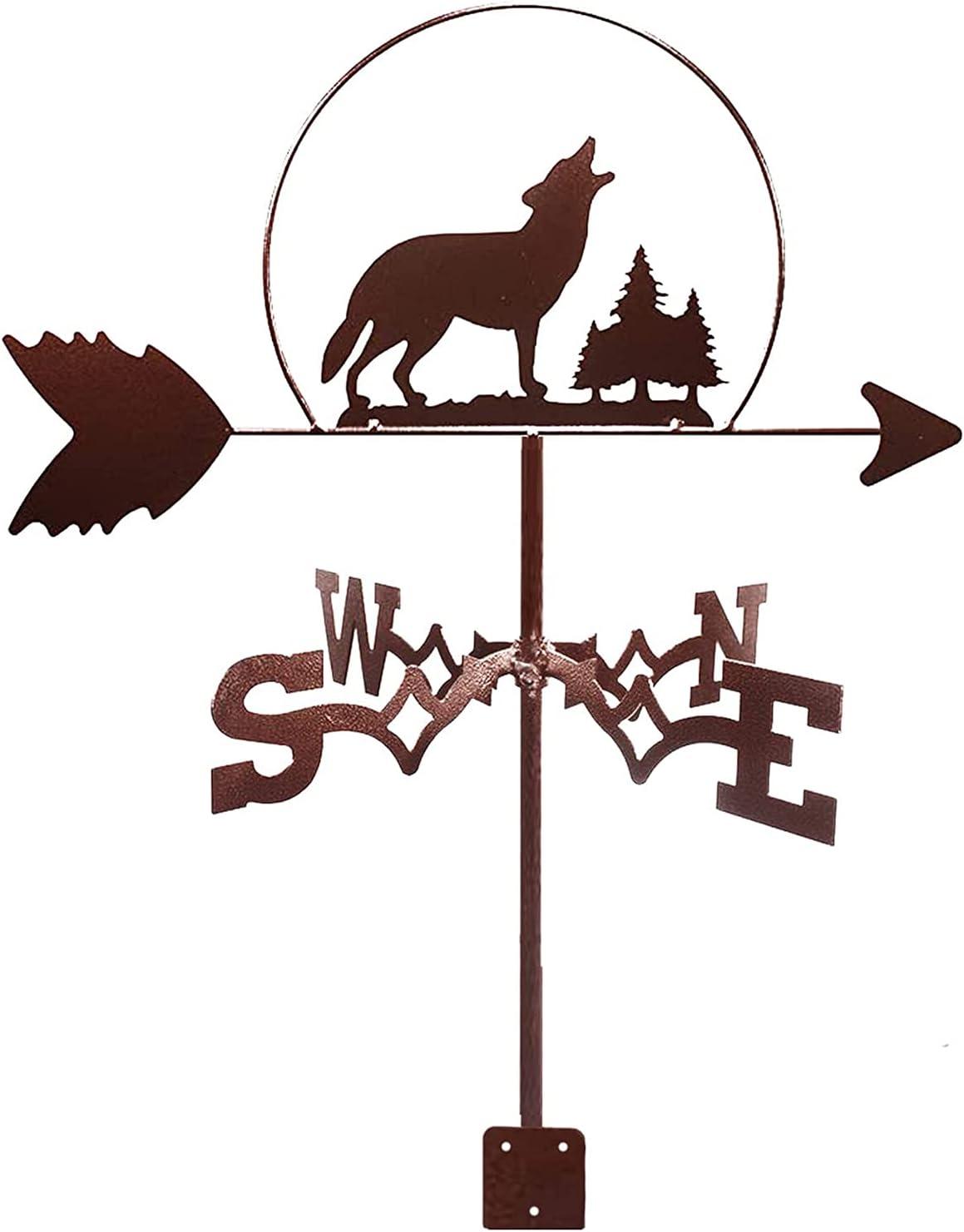 Animal Metal Weathervane Vintage Weather Wild Van Selling and selling Wolf Tucson Mall Vane Wind