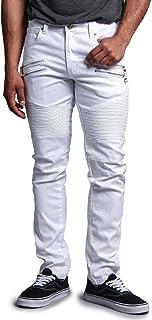 G-Style USA Men's Coated Biker Jeans