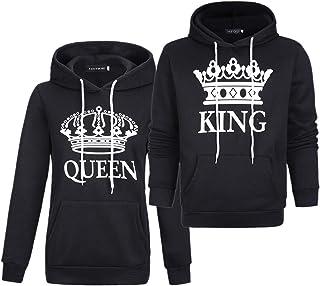 カップルスウェットシャツマッチング女性キングクイーンプルオーバー King Queen2パック