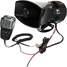 Airzir 12V 100W 7 Tones Car Siren Speaker with Mic PA System Car Loud Emergency Sound Alter Warning Siren Speaker Amplifier Horn with Hooter, Fire Alarm, Ambulance, Traffic, Police, Horn Sound etc.