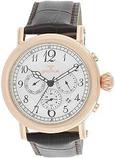 Spectrum Men's Rose Gold Case Black Dial Multi Function Dress Watch