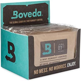 Boveda for Cigars/Tobacco   69% RH 2-Way Humidity Control   Size 60 for Use with Every 25 Cigars a Humidor Can Hold   Patented Technology For Cigar Humidors   12-Count Retail Carton
