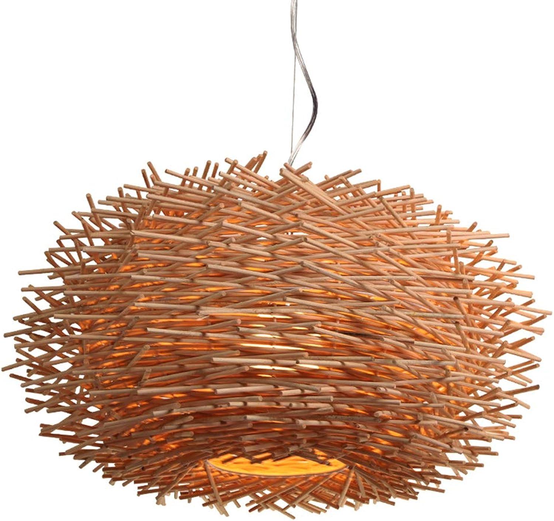 @Y.T Artrestaurantschlafzimmer-Kunstleuchter des rustikalen Rattanleuchters kreativer Nestleuchter des Vogels,300MM