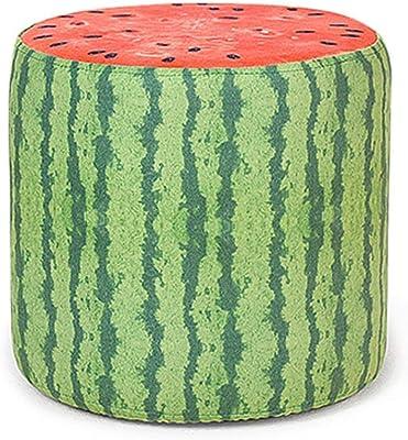 Relaxdays 10020158/_509 Pouf Rotondo Pieghevole Multicolore 38.5x38.5x38.0 cm Stoffa