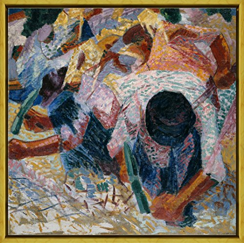 Berkin Arts Framed Umberto Boccioni Giclee Canvas Print Paintings Poster Reproduction(Italian Reggio)