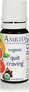 AMRITA Aromatherapy: Quit Craving Synergy Blend (Natural Craving Relief) Blend with Black Pepper, Pink Grapefruit, Bitter Orange, Lime, Spearmint, Clove Bud, Helichrysum Size: 10ML