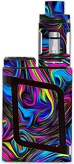 Skin Decal Vinyl Wrap for Smok AL85 Alien Baby Kit Vape Mod stickers skins cover/Neon Color Swirl Glass