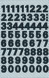 Etiquetas de la carta Avery Zweckform 3780, A-Z (lámina resistente a la intemperie), 130 pegatinas Números negro, 76 x 120 mm