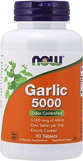 NOW Supplements, Garlic 5,000 (Allium sativum), Enteric Coated, Odor Controlled, 90 Tablets