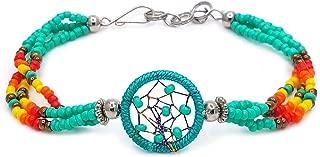 Mia Jewel Shop Handmade Native American Style Tribal Dream Catcher Beaded Multi Strand Bracelet