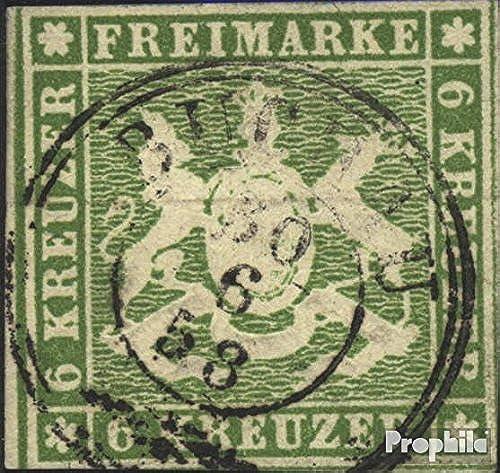 exclusivo Prophila sellos para coleccionistas    Württemberg 8a ejemplar normal matasellado 1857 escudo de armas  nuevo sádico