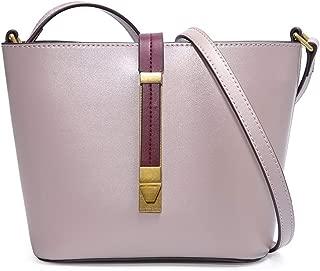 FengheYQ Women's Messenger Bag Simple and Versatile Compact Bills Shoulder Slung Leather Handbags Size:16.5 * 8 * 16cm (Color : Purple)