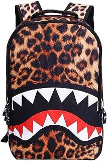 iMaySon 3D Skull Shark Leopard Face Print Backpack Teenager SchoolBag for Teens Boys