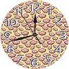 掛時計 壁掛け時計 アナログ クロック インテリア 円形 静音 可愛い-コスモスの花フィールド水彩植物学アレンジメントガーデンアートデザイン 連続秒針 デジタル ウォールクロック おしゃれ デジタル時計 直径25cm