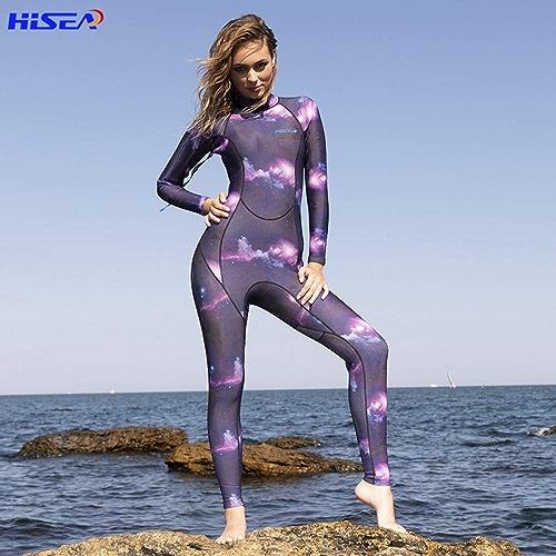 Shutian 3mm Costume de plongée Les Les dames Surf Anti-Froid Corps Chaud méduse étoilée Pantalon à Manches Longues crème Solaire Snorkeling Costume Une pièce