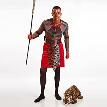 Hellery Traje de Disfraces de Aborigen Africano Indio Estampado ...