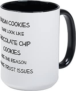 CafePress Raisin Cookies That Look Like Chocolate Chip Cooki Coffee Mug, Large 15 oz. White Coffee Cup