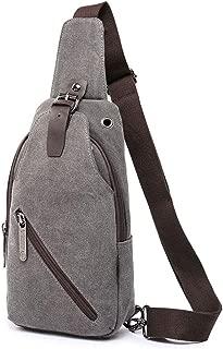 IDAND Sling Bag Shoulder Chest Crossbody Bags for Men Women