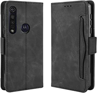 YEESOON Motorola Moto G8 Plus Case, PU Leather TPU Inner Shell Magnetic Buckle Flip Cover Holster Stand Function Built-in ...