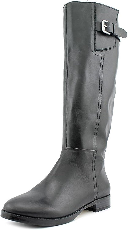 INC International Concepts Womens Coco Leather Almond Toe Mid-Calf Fashion Bo.