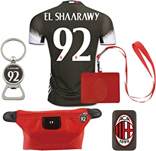 #92 El Shaarawy (6 in 1 Combo) A.C. Milan 2nd Away Match Adult Soccer Jersey 2016-17