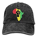 Hoswee Unisex Kappe/Baseballkappe, African Roots Black Power Piece.PNG Adult Adjustable Jeans Dad...