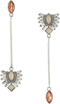 GUESS Asymmetrical Linear Drop Earrings
