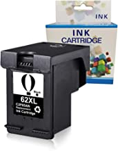 A1INK Refilled Ink Cartridge Replacement for HP 62 62XL 62 XL Use for HP Envy 7640 5660 5540 5640 5643 5543 5541 Officejet 5740 5743 5745 8040 OfficeJet 200 250 252 258 Mobile Printer (1BK)