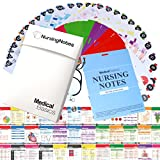 Nursing Notes 60 High Yield Pocket Nursing Reference Cards, Durable Plastic (3.5' x 5') - MedSurg, ICU/Critical Care, Pharmacology, OB/Peds - Waterproof full color reference book for nurses, CNA