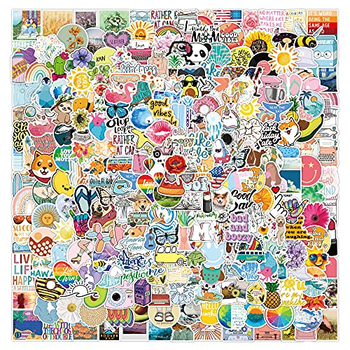 YZFCL Pequeñas pegatinas de graffiti de la serie fresca del cuaderno del monopatín del equipaje de las pegatinas impermeables 300pcs