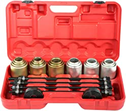 Qiilu 26Pcs Car Universal Bush Bearing Removal Insertion Tools Set Press Pull Sleeve Kit