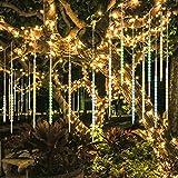 BlueFire Aggiornato Luci Della Pioggia di Meteore, 50cm 10 tubi 540 LEDs IP65 Tubo a spirale Luci Stringa meteora doccia per Natale Halloween Albero del Giardino Festa di Nozze(Multicolore)