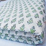 Traditional Jaipur Block gedruckt Baumwollgewebe Hand