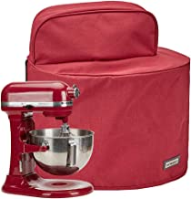 HOMEST Stand Mixer Dust Cover with Pockets Compatible with KitchenAid Tilt Head 4.5-5 Quart, Red (Patent Pending)
