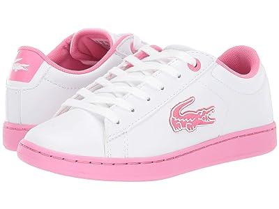 Lacoste Kids Carnaby Evo 319 1 (Little Kid) (White/Pink) Kid