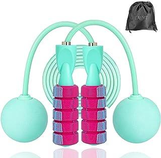 Cordless Jump Rope, Skipping Touw voor vrouwen, mannen, Heavy Jump Rope met verstelbare Bold PVC touw, Ball Bearing Alumin...