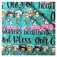 ファブリック 縫製人形布のためのティッシュキッズホームテキスタイルのための健康的な看護師ポリエステル綿の生地、 縫製生産 (Color : Light Gray, Size : 20x33cm)