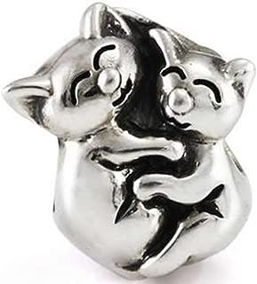 Hugging Kittens Charm Bead for Snake Chain Charm Bracelet