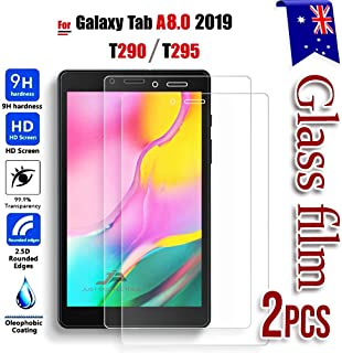 [2 Pack ] for Samsung Galaxy Tab A 8.0 2019 T290 T295 Scratch Resistant Tempered Glass LCD Screen Protector Film Guard (2 ...