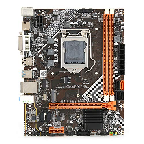 Desktop Computer M-ATX Motherboard, DDR3 LGA1155 CPU for Intel B75 Mainboard, RTL8111H Gigabit Network Card, M.2 NVME+NGFF Dual-Mode, SATA3.0/USB3.0/6-Channel Audio Chip