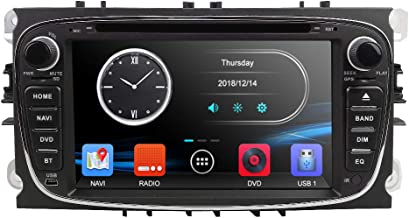 Doble DIN Radio 17.8cm Reproductor de DVD para Auto GPS Navi Autoradio Bluetooth Cámara para Ford Mondeo Focus S-MAX