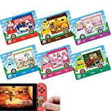 Sanrio Animal Crossing Amiibo Cards ACNH Sanrio Collaboration Mini Card Compatible with Switch and Switch Lite, 6 Pcs