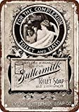 Houseuse 1895 Buttermilk Toilet Soap Vintage Look Reproduction Metal Tin Sign 8X12 Inches