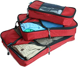 GOWETION Packing Cubes for Travel - 6 Set Luggage Organizer Bags for Packing (Red)