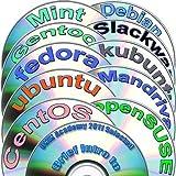 Colección Diversidad Linux 64-bit, 12 DVDs de instalación y de referencia paquete incluye: Ubuntu 16.10, Kubuntu 16.10, openSUSE 13.2, Fedora 25, Debian 8, CentOS 7, Mint 18, Gentoo 12, Mandriva 2011 y Slackware 14