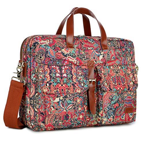 BAOSHA Multicoloured 17inch Laptop Computer Bag Messenger Bag Briefcase for Women BC-07 (HS)