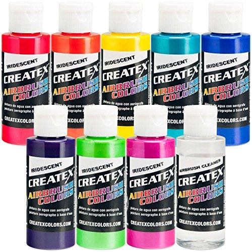 Iridescent 8 Createx Airbrush Paint Colors Set