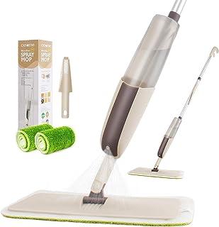 CXhome Spray Mop,Mocio in Microfibra con spruzzatore e capacità Rotante di 360 Gradi,Lavapavimenti a Spruzzo Scopa con 2 w...