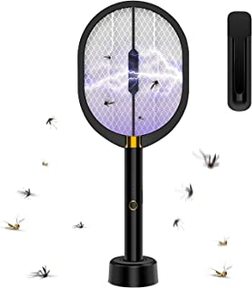 HEUIZHI 3 in 1 Electric Swatter Racket 3000Volet USB Rechargeable LED Lighting 3 Layer Mesh Protection Handheld Vertical H...